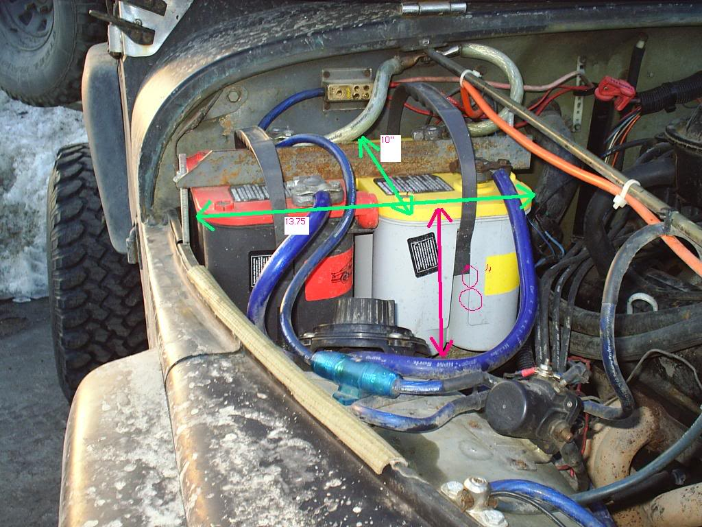 Dual Battery Tray Plans Jeep Jk Wiring The Angle Iron Is An Old Bed Frame It Also What I Used To Weld Worked Mint But You Have Brace
